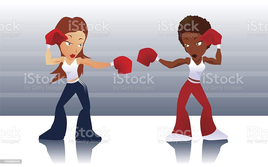 Touch Gloves vector art illustration