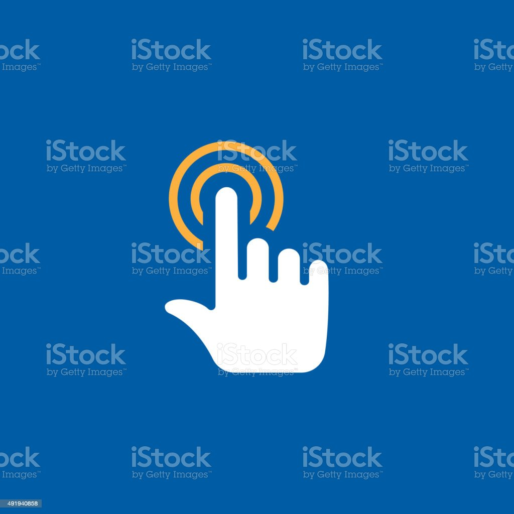 touch icon vector art illustration