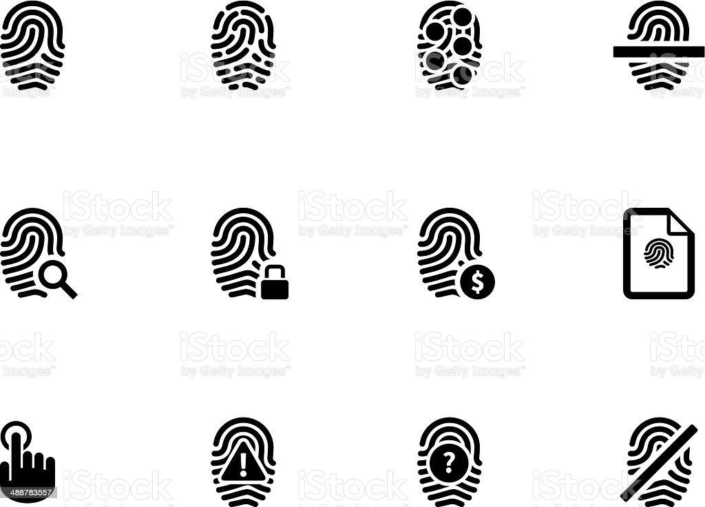 Touch id fingerprint icons on white background. vector art illustration