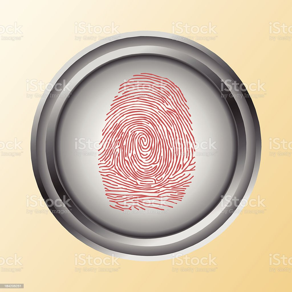 Touch, ID, Fingerprint scan Access Symbol royalty-free stock vector art