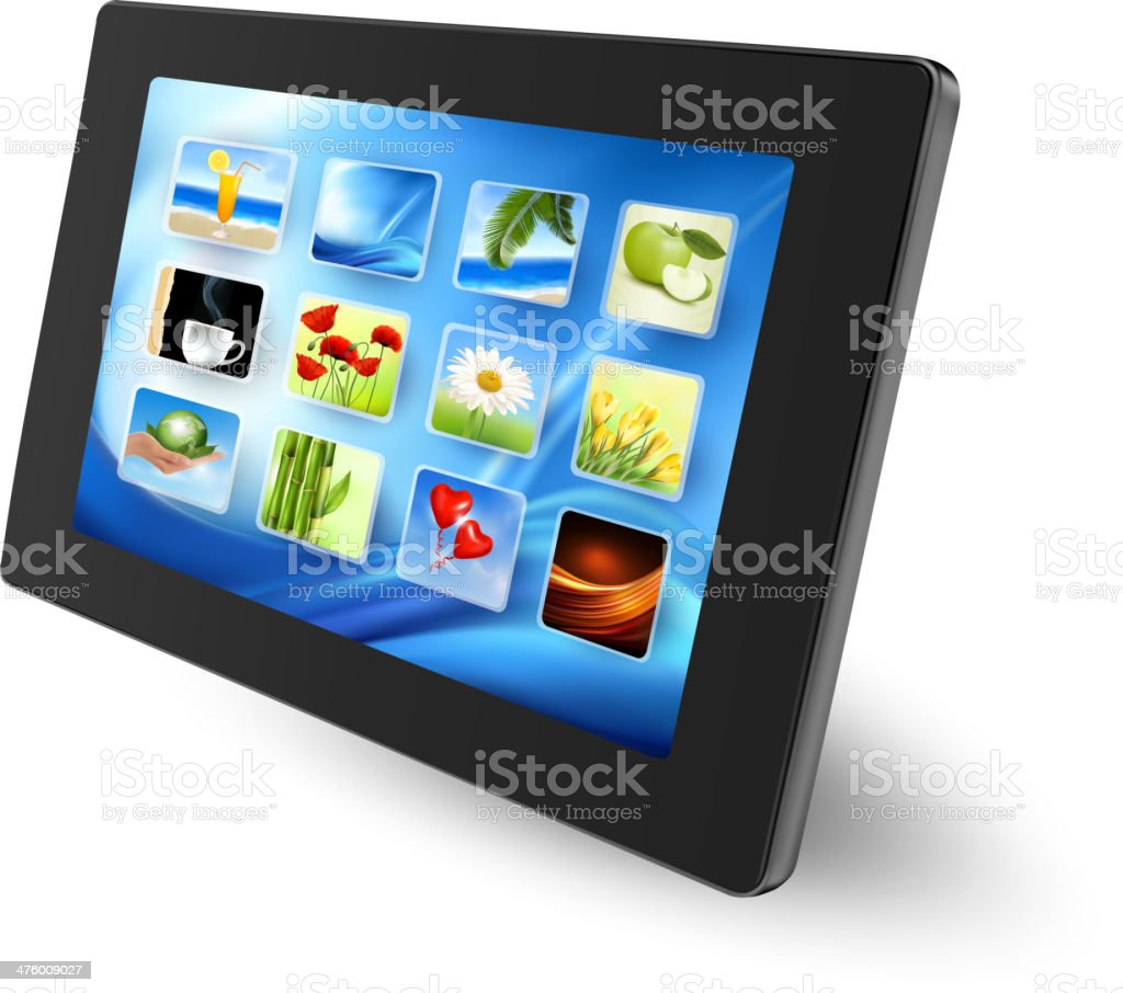 touch pad pc royalty-free stock vector art