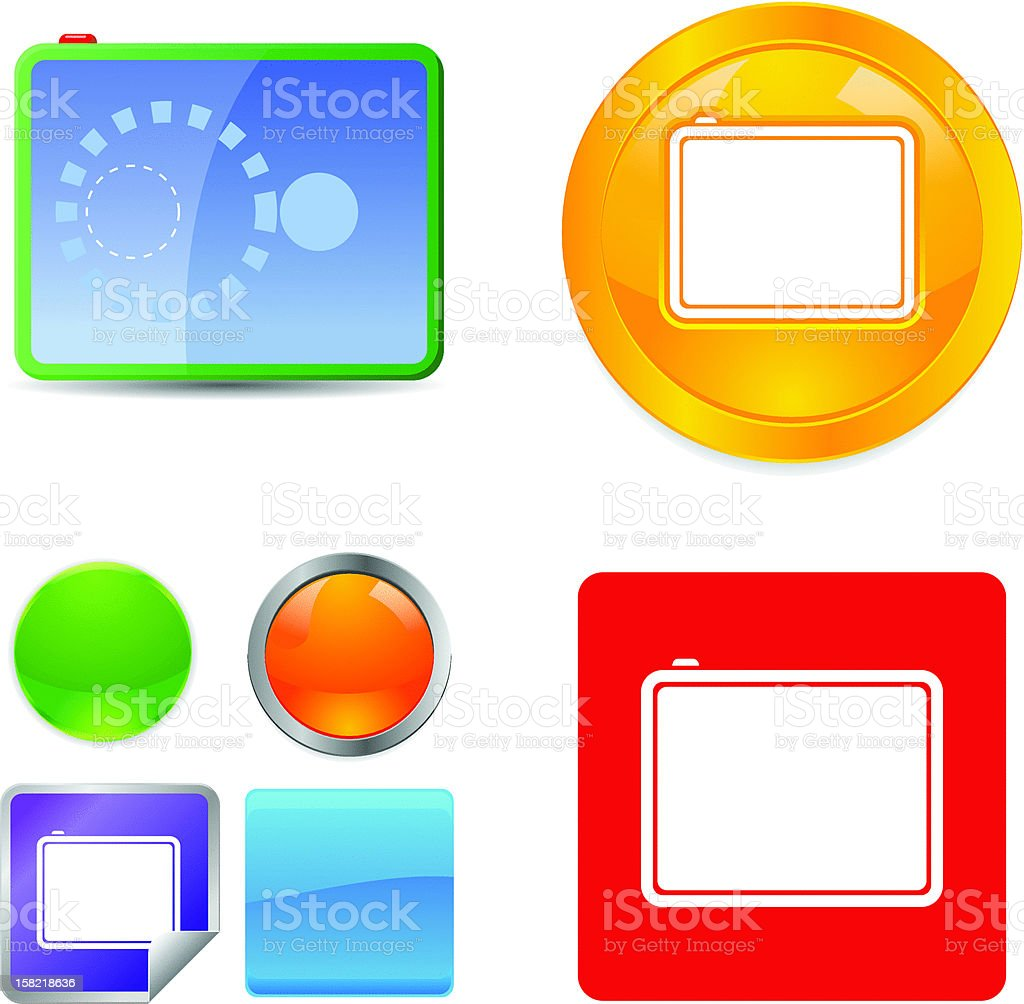 Touch Pad Vector Icons royalty-free stock vector art