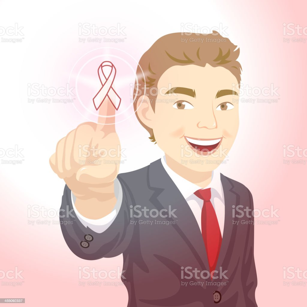 Touch Screen - Aids Awareness royalty-free stock vector art