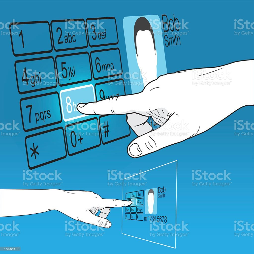Touch Screen KeyPad royalty-free stock vector art
