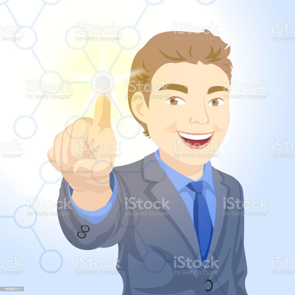 Touch Screen - Network royalty-free stock vector art