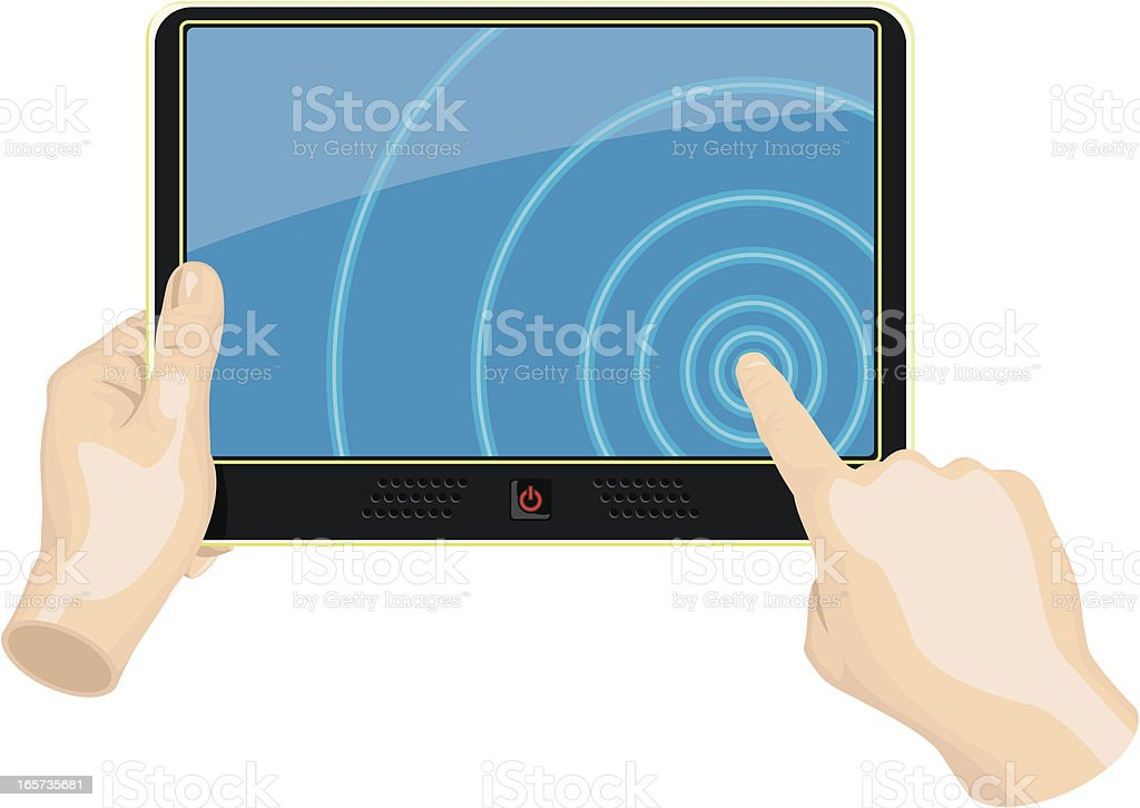 Touch Screen Tablet PC royalty-free stock vector art