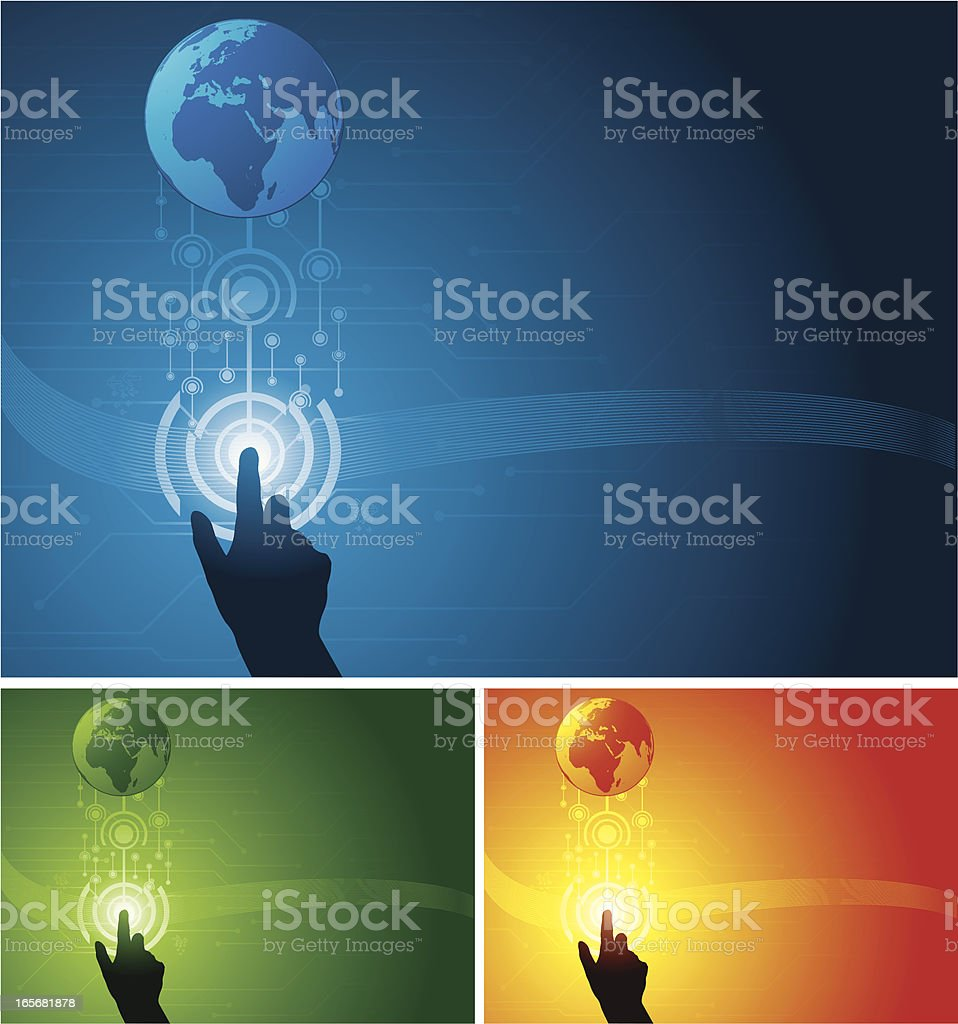 Touch the world royalty-free stock vector art