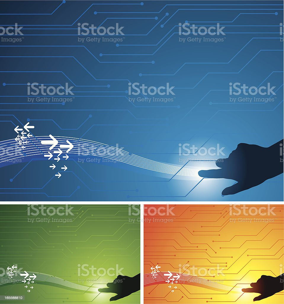 Touch royalty-free stock vector art