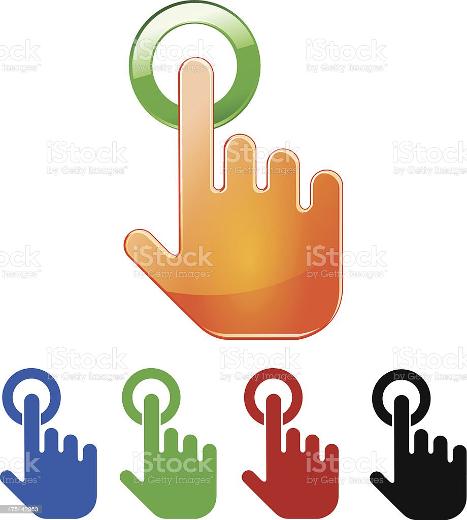 touch vector art illustration