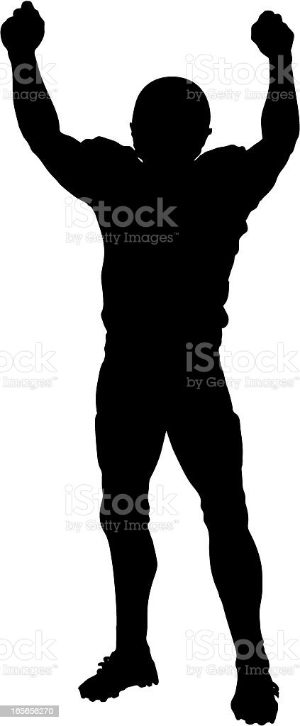 Touchdown Silhouette Fists royalty-free stock vector art