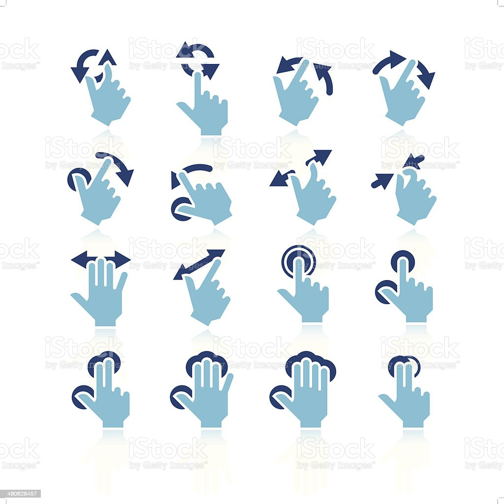 Touchpad Gestures Icon Set vector art illustration