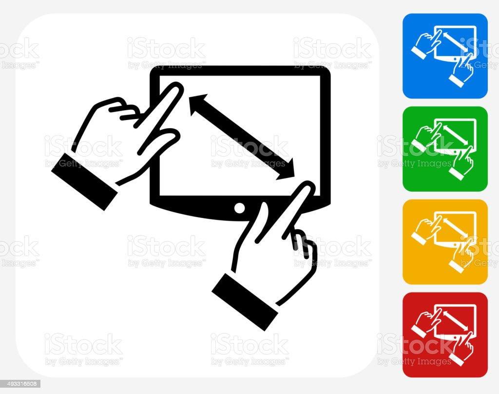 Touchscreen Icon Flat Graphic Design vector art illustration