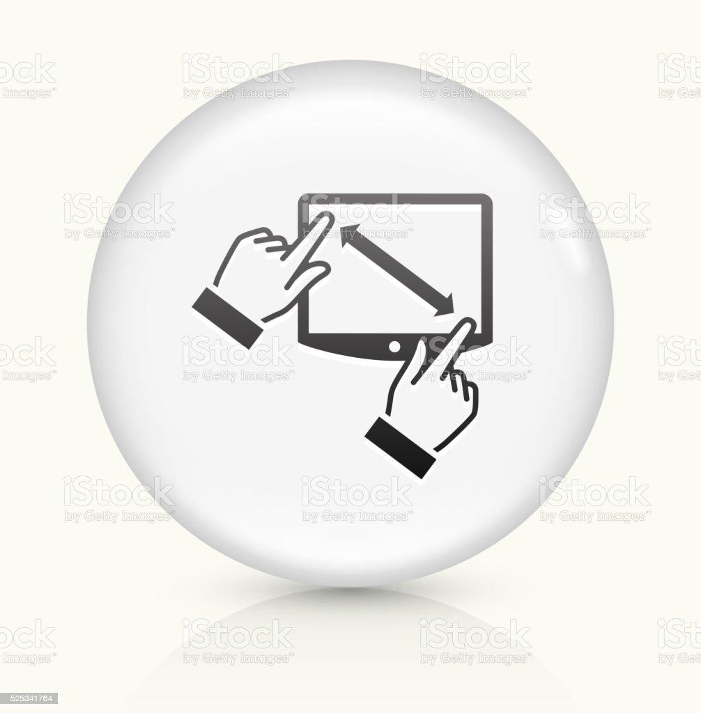 Touchscreen icon on white round vector button vector art illustration