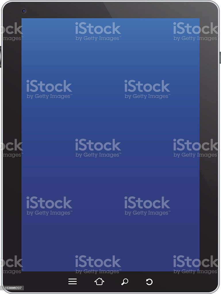 Touchscreen tablet royalty-free stock vector art
