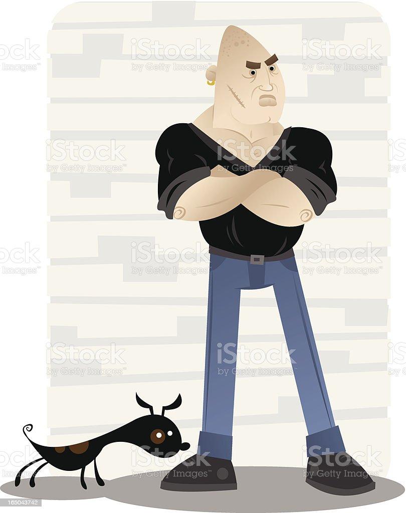tough guy vector art illustration