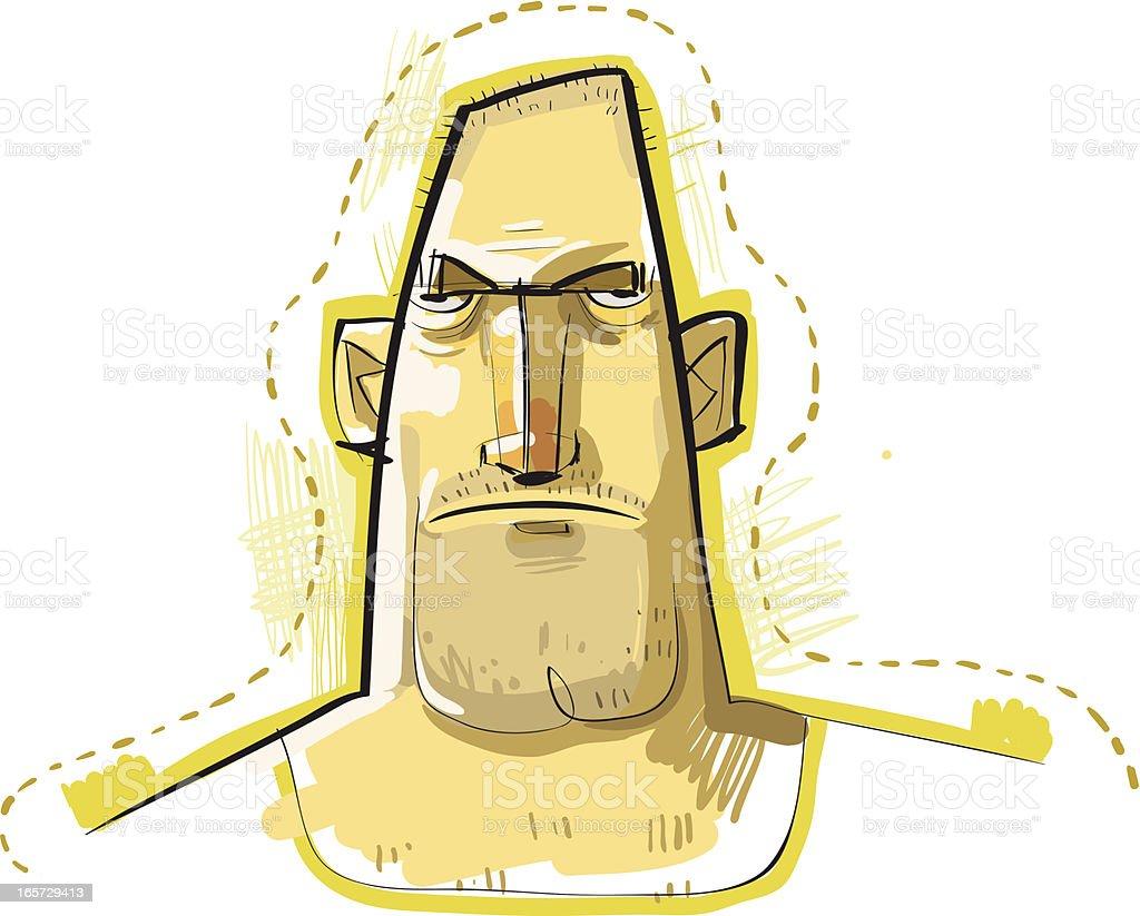Tough Guy royalty-free stock vector art