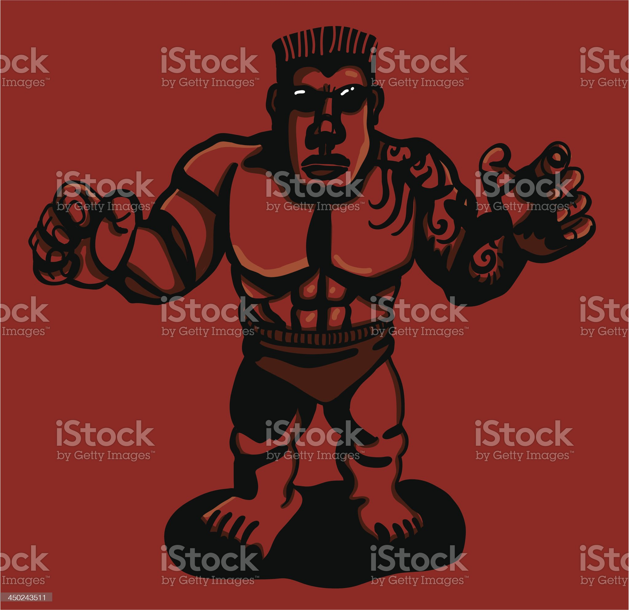 Tough in bathing suit royalty-free stock vector art