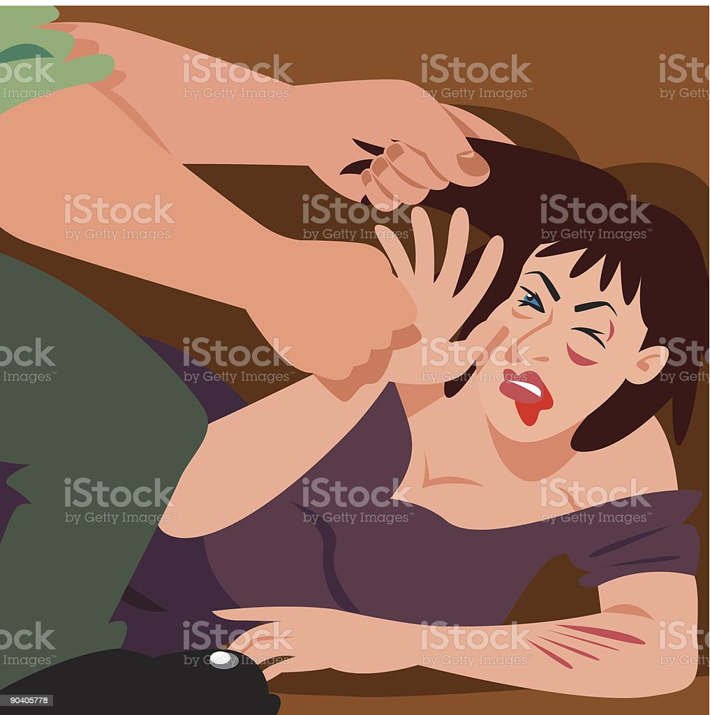 Tough love royalty-free stock vector art