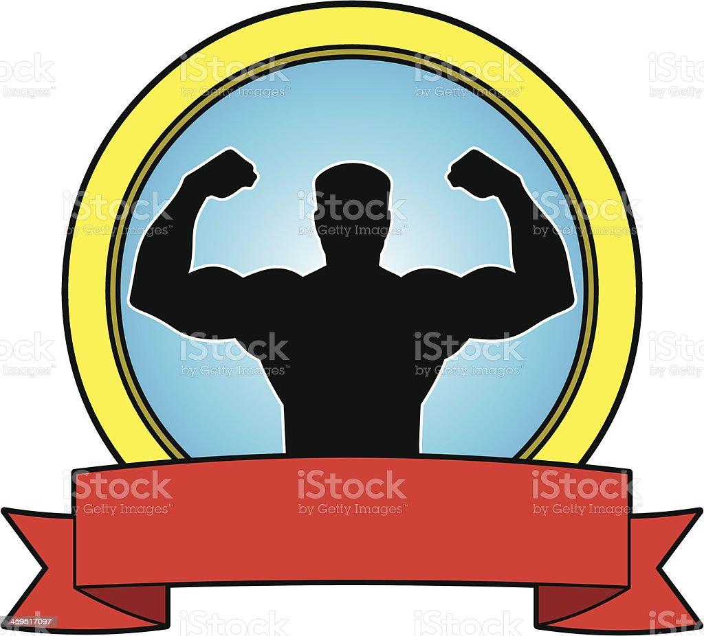 Tough Man Banner royalty-free stock vector art