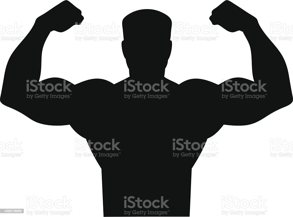 Tough Man Icon vector art illustration