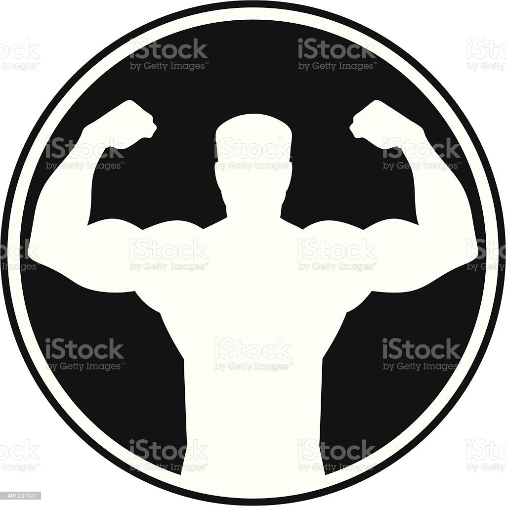 Tough Man Symbol vector art illustration