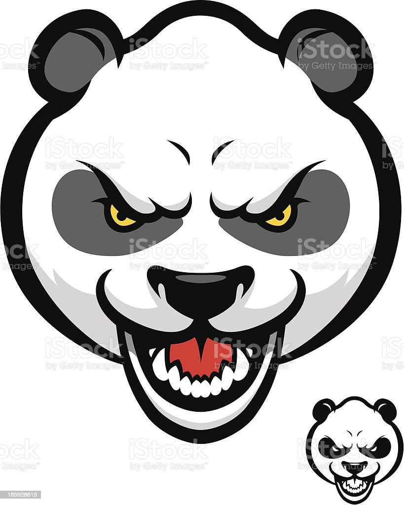 Tough Panda Bear vector art illustration
