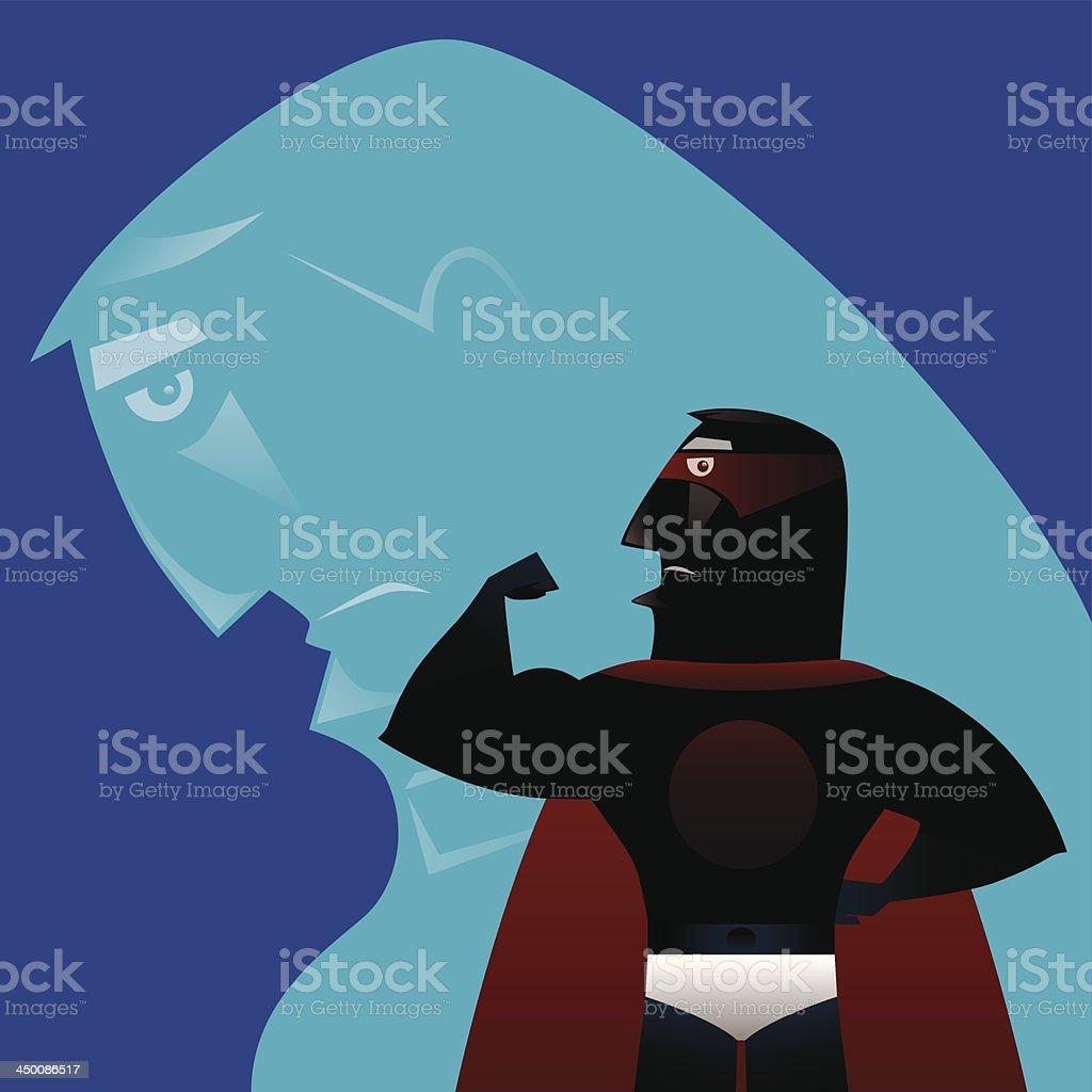 tough super hero royalty-free stock vector art