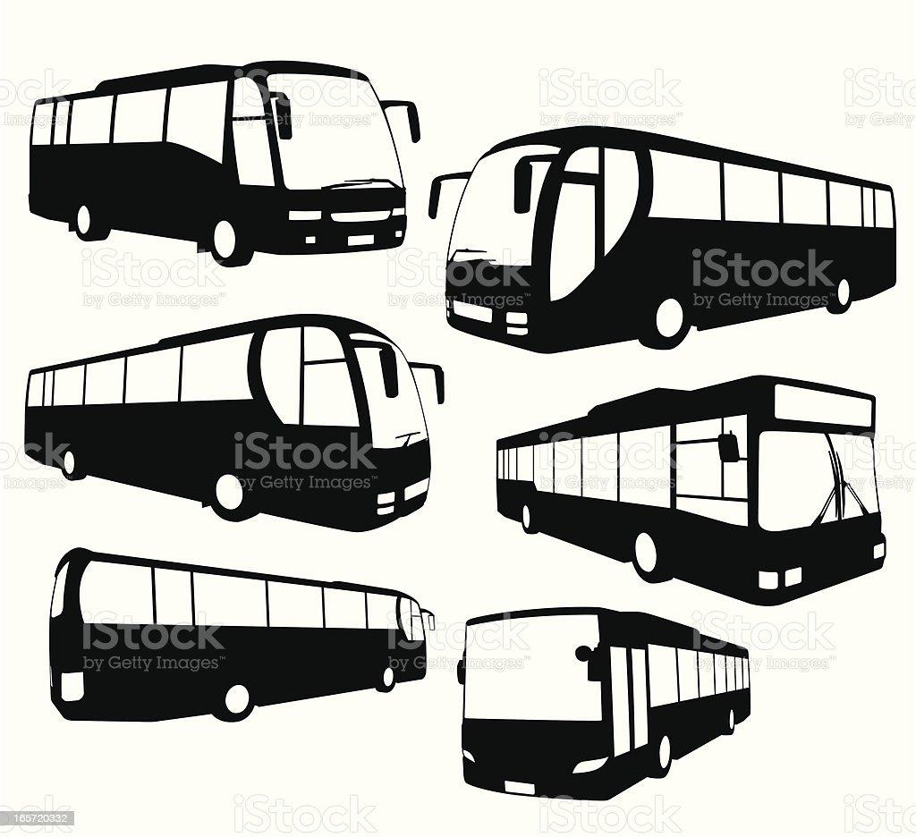 Tour Bus collection vector art illustration