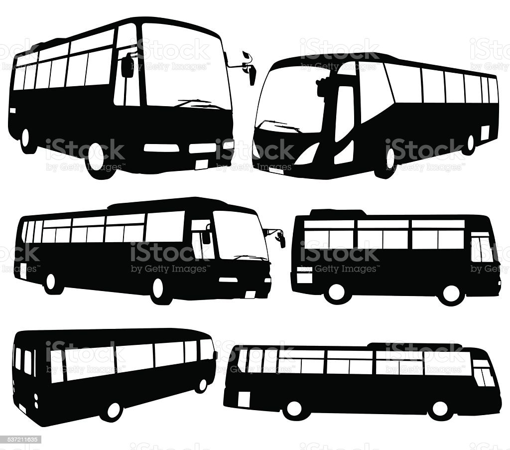 Tour Bus vector art illustration