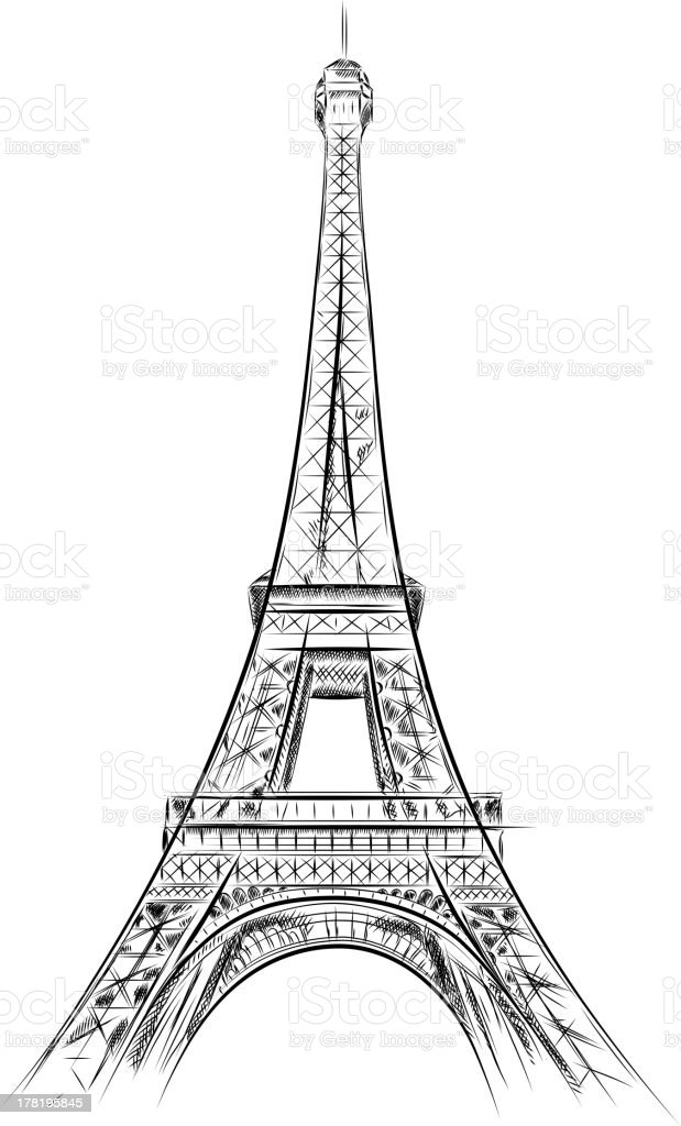 Tour Eiffel vector art illustration
