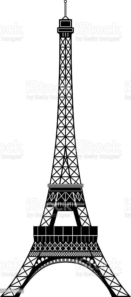 Tour Eiffel vector art illustration