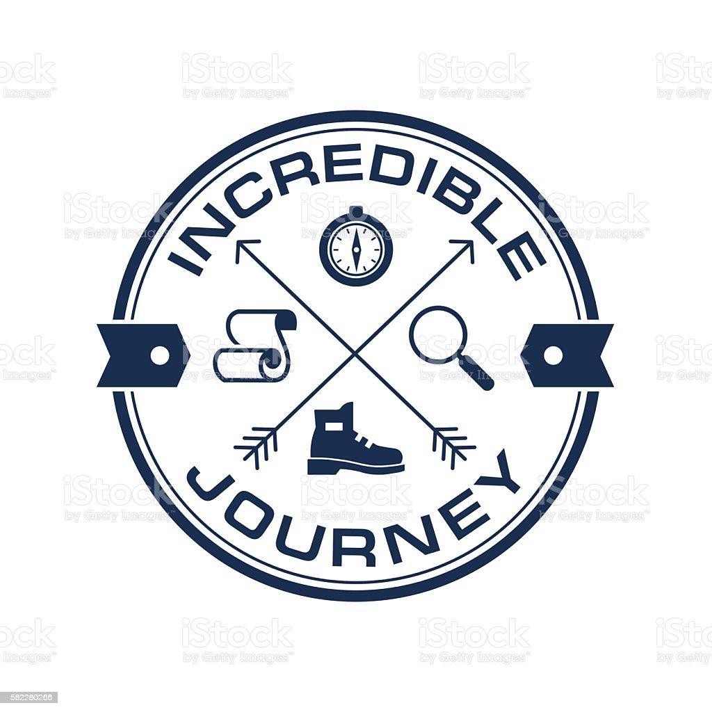 Tourism, Adventure Travel vector logo symbol template vector art illustration