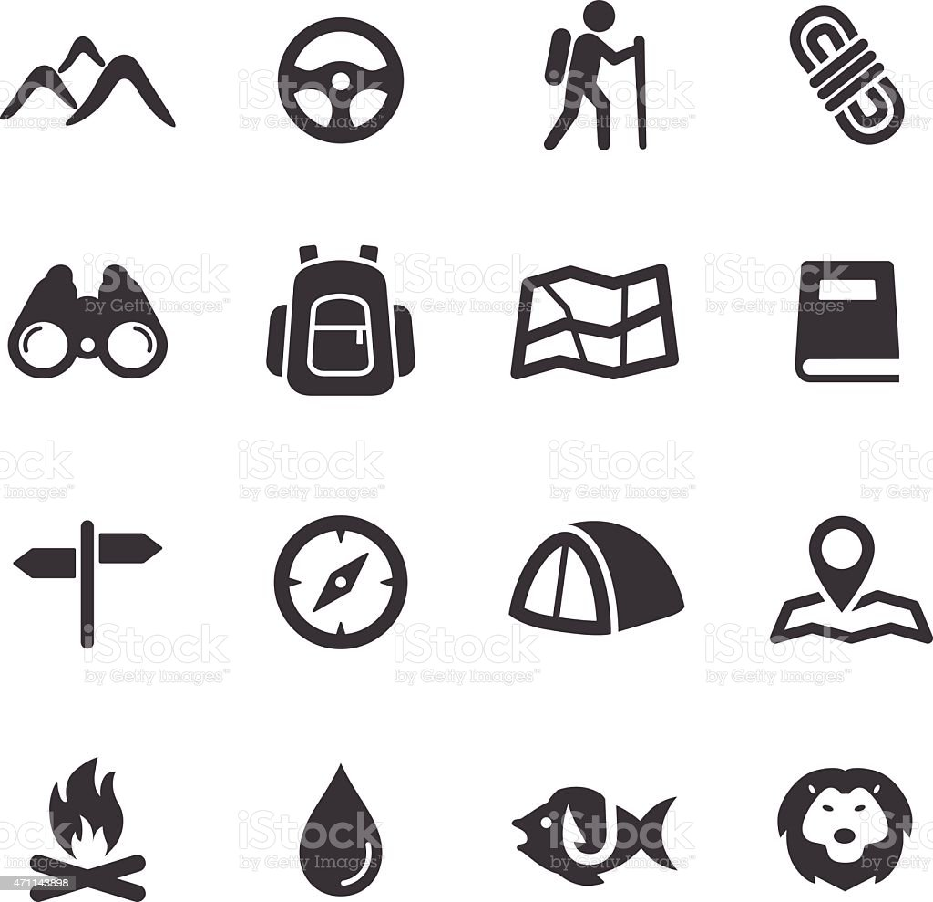 Tourism and Camping Icons - Acme Series vector art illustration