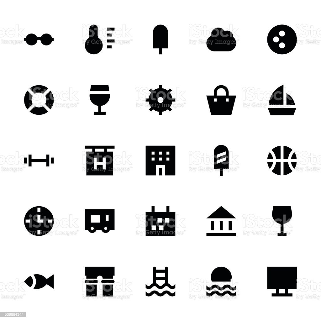 Tourism and Travel Vector Icons 2 vector art illustration