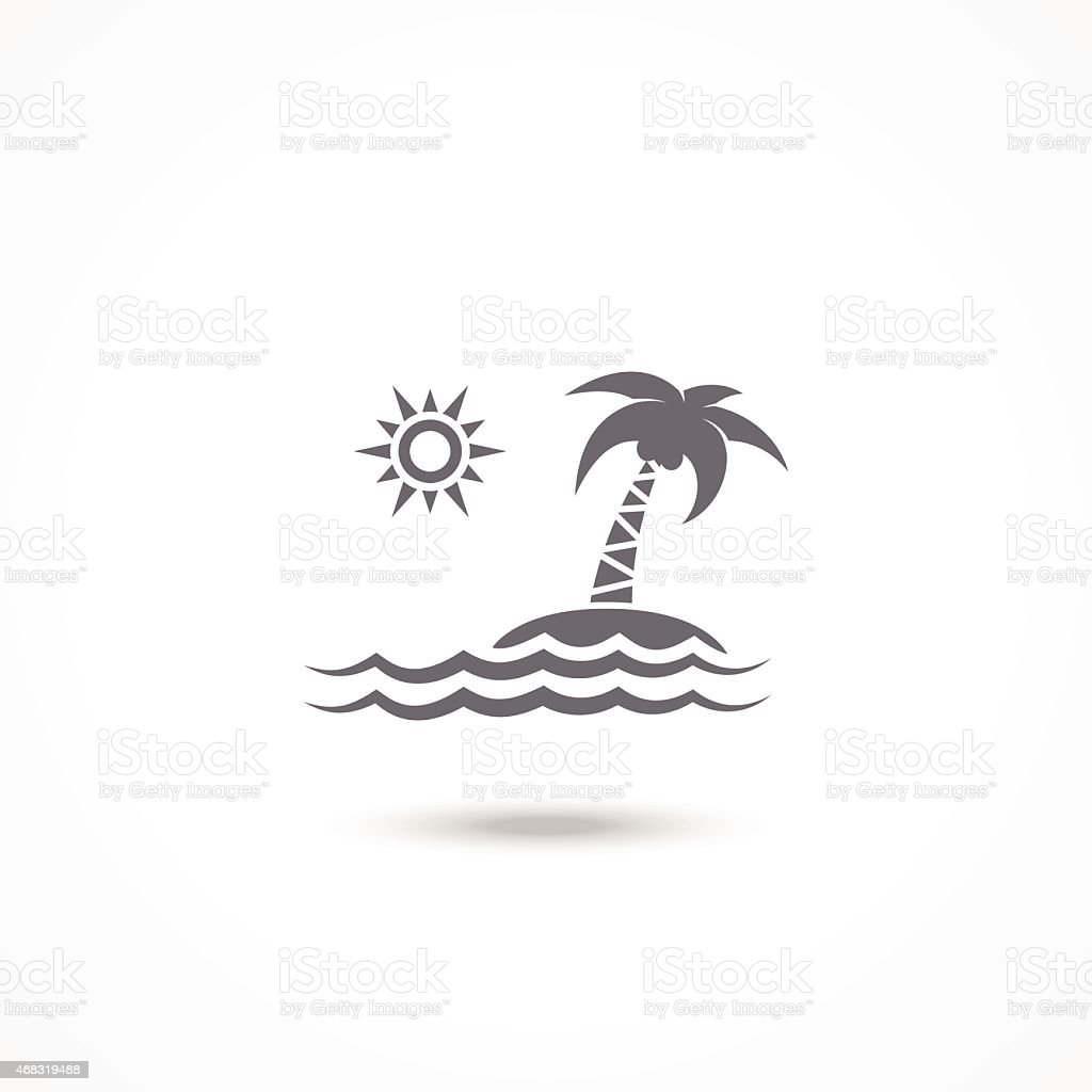 Tourism icon vector art illustration