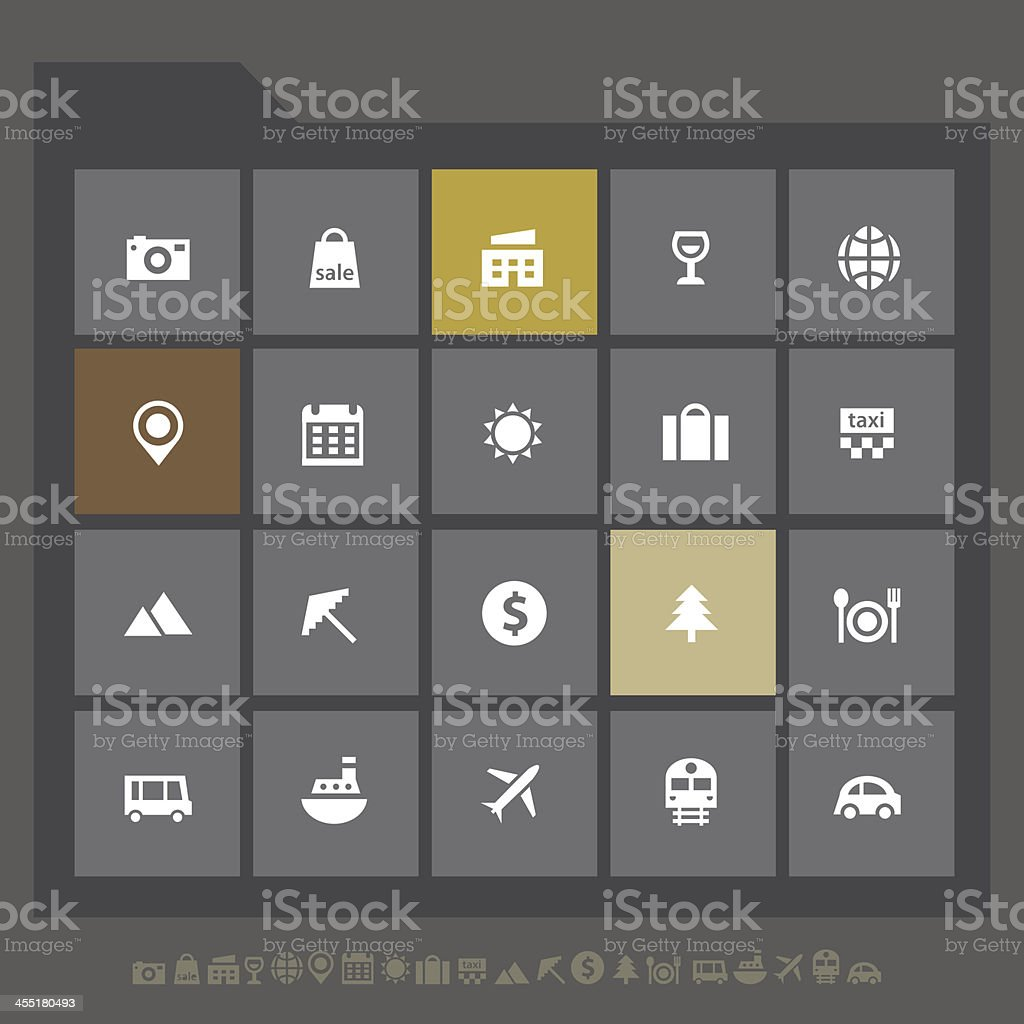 Tourism icons royalty-free stock vector art