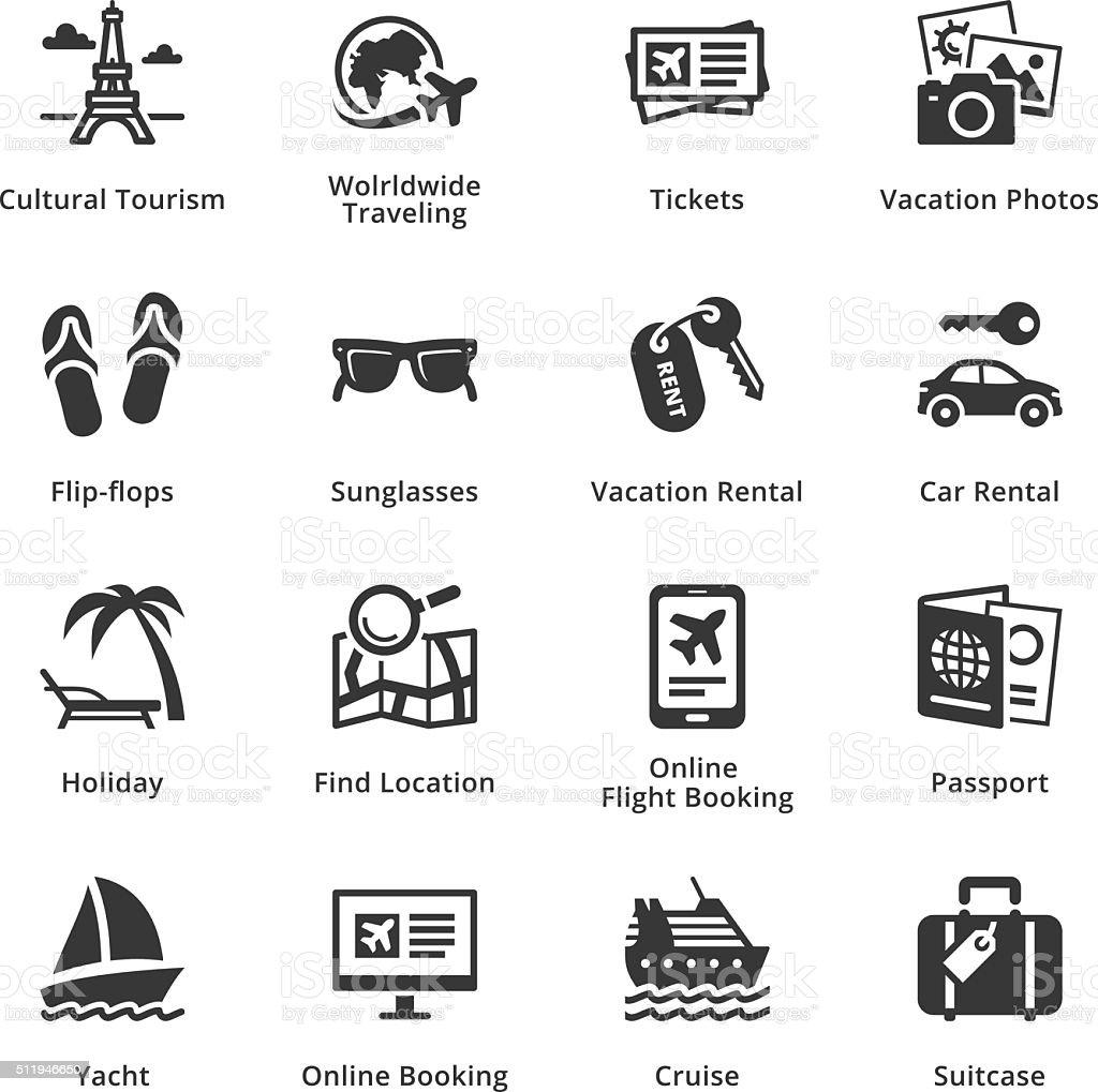 Tourism & Travel Icons - Set 5 vector art illustration