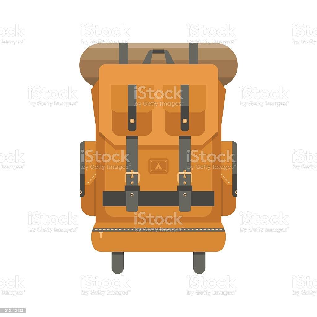 Tourist Backpack Icon vector art illustration