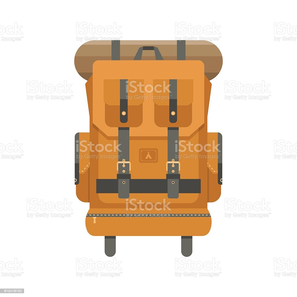 Tourist Backpack Icon vector art illustration