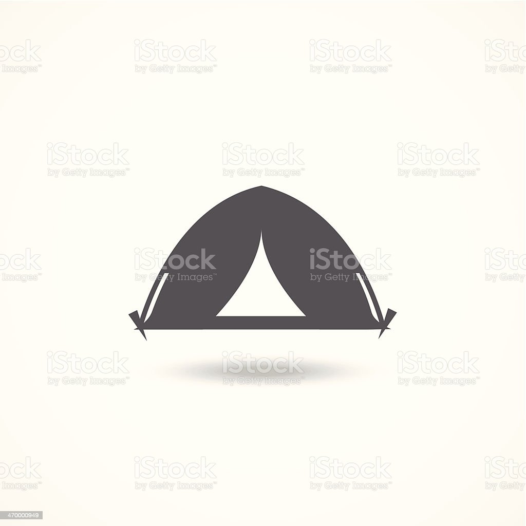 Tourist tent icon vector art illustration