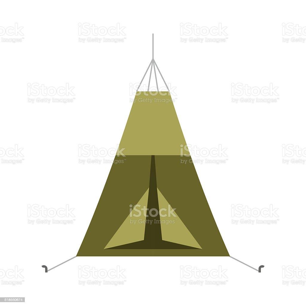 Tourist Tree Tent Vector Icon vector art illustration