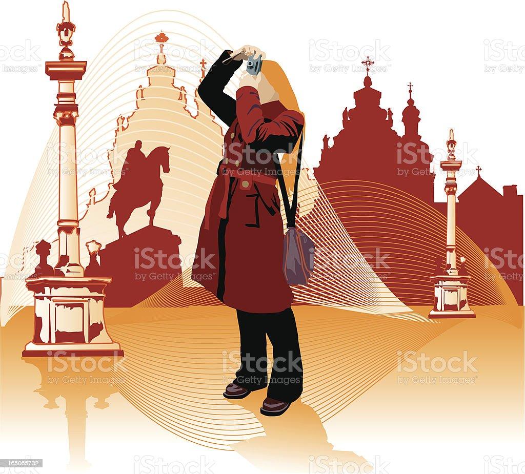 Tourist royalty-free stock vector art