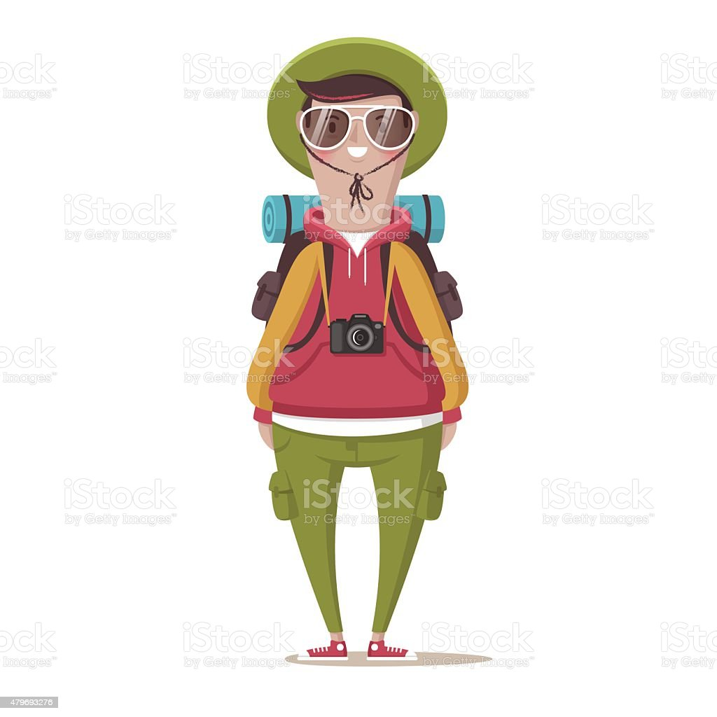 Tourist vector art illustration