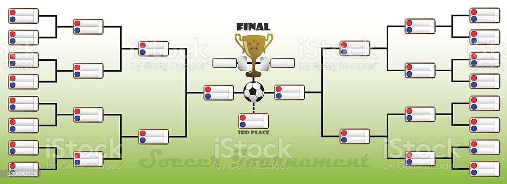 Tournament Bracket vector art illustration