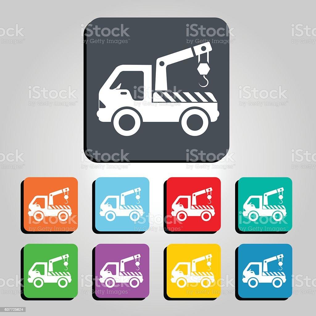 Tow Truck Icon Vector Illustration vector art illustration