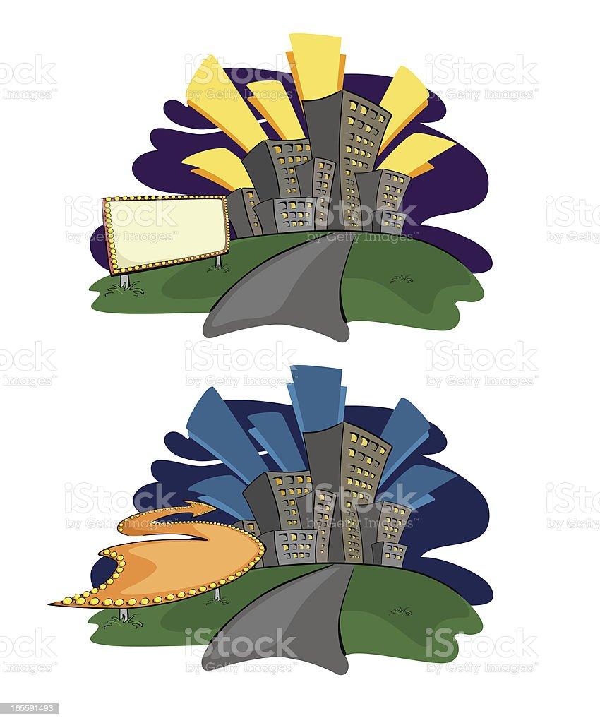 toward the city royalty-free stock vector art