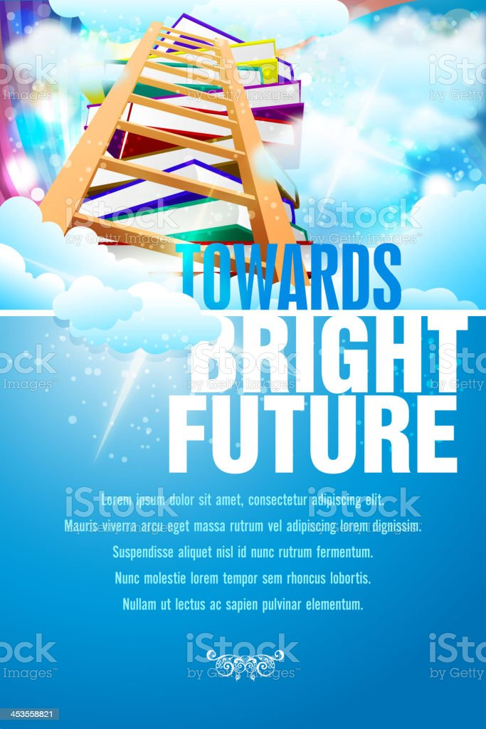 Towards bring future poster background vector art illustration