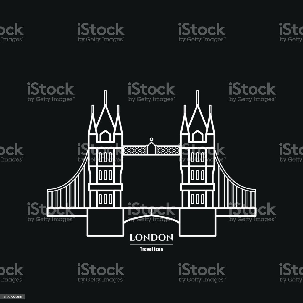 Tower bridge Icon vector art illustration