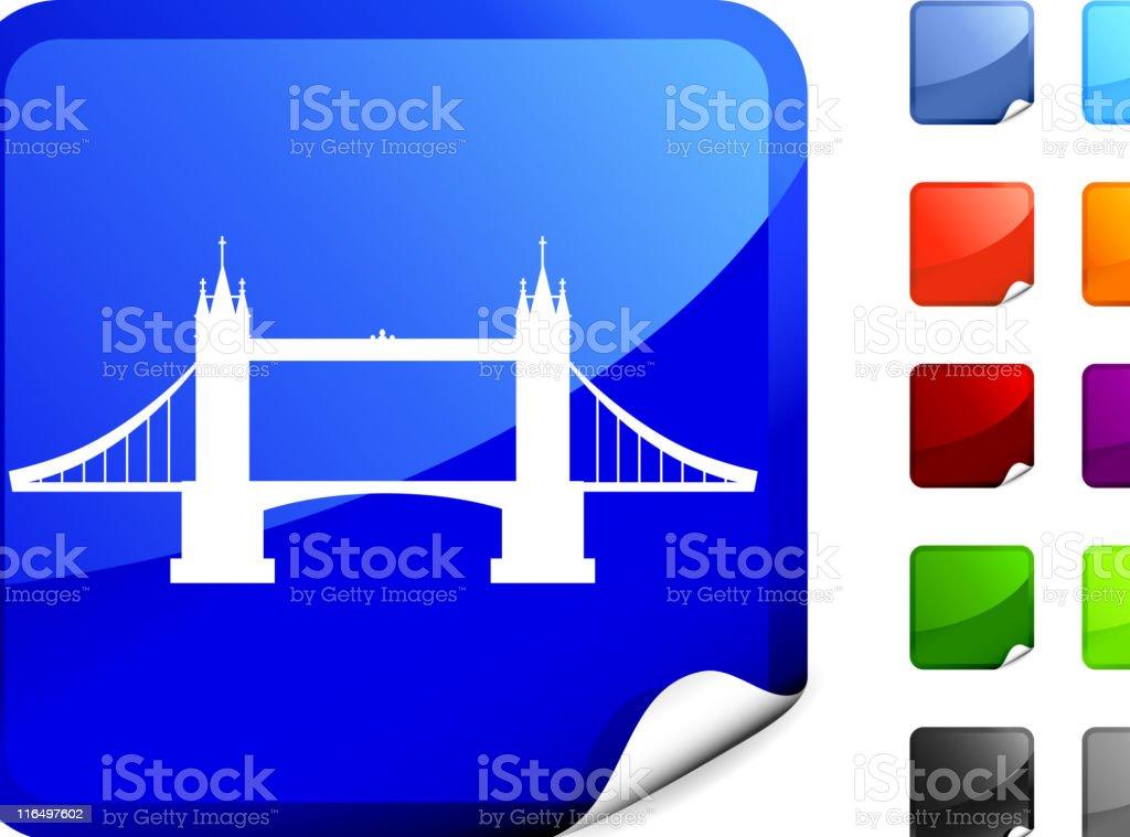 tower bridge Sticker royalty-free stock vector art