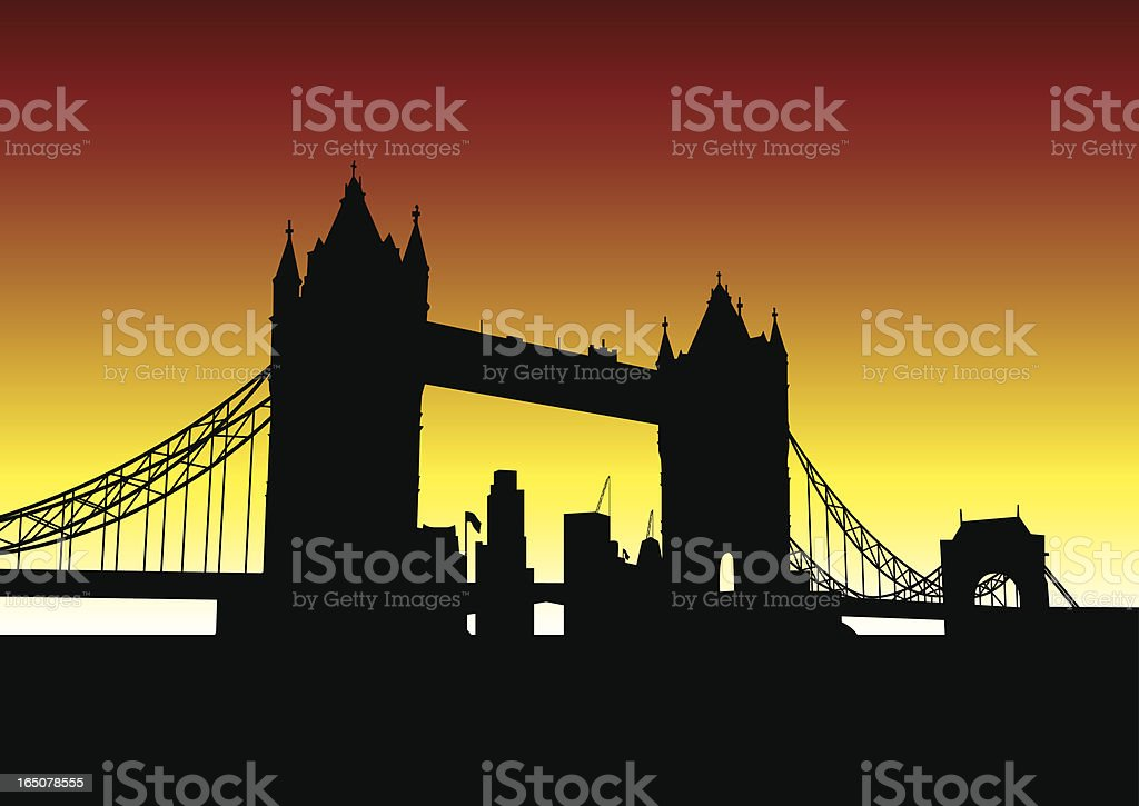 Tower Bridge royalty-free stock vector art